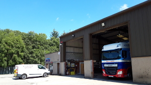 R A Howie based at Kemnay, Kintore, Inverurie,(near Aberdeen) Aberdeenshire, Scotland offer self storage container hire and storage facilities and truck and trailer maintenance including Ministry of Transport tests (MOTs)